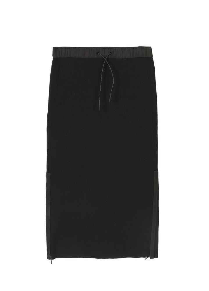Load image into Gallery viewer, Long-waisted side polyester skirt