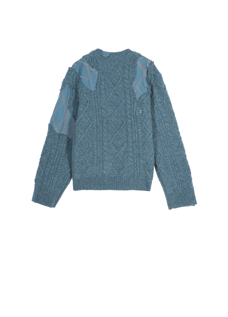 Mixed Materials Sweater