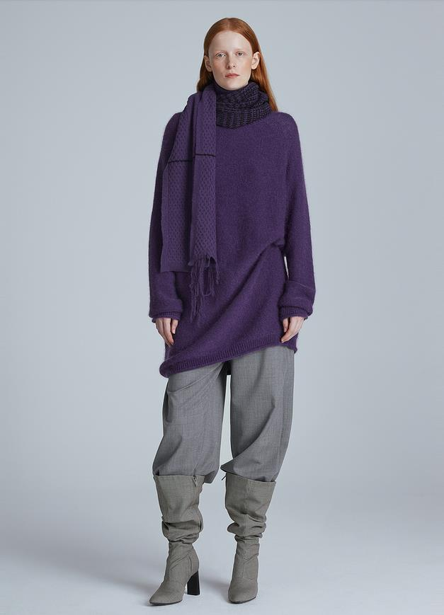 Load image into Gallery viewer, Mohair Turtleneck Long Sweater