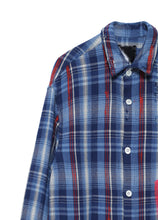Load image into Gallery viewer, Indigo retro check shirt