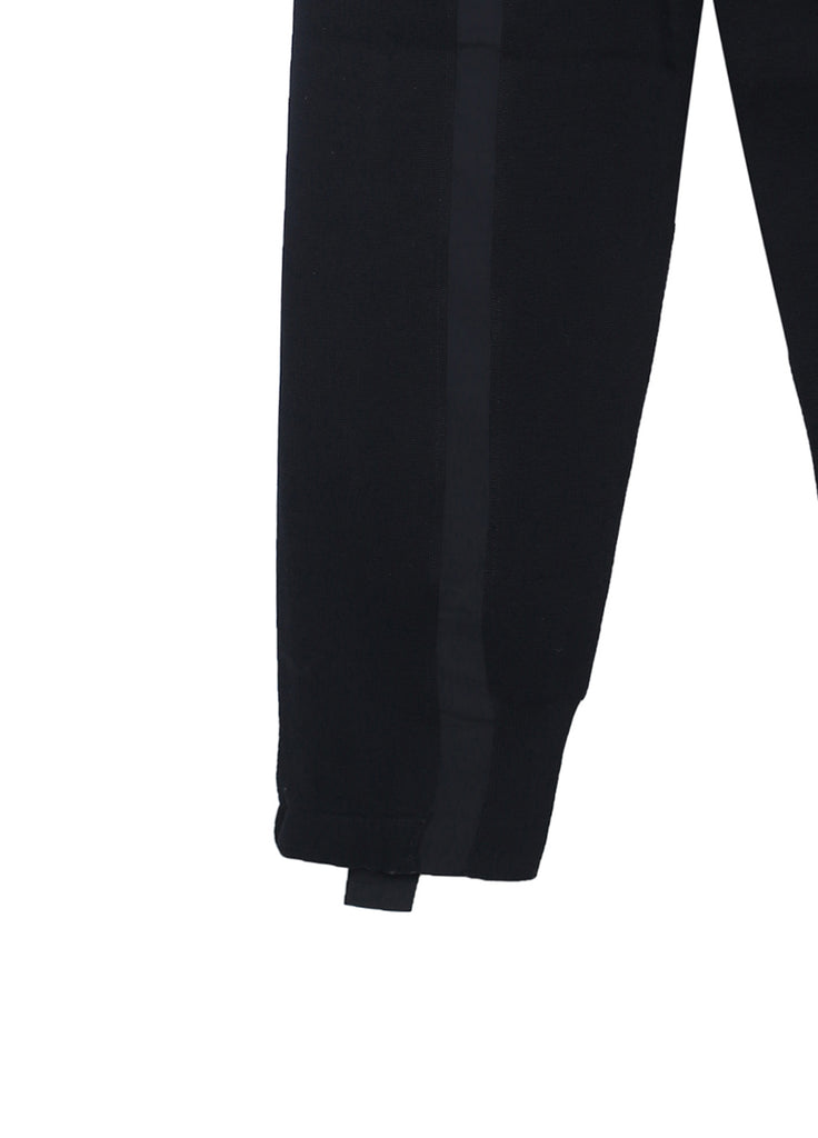 Knitted Double Stripe Track Pants