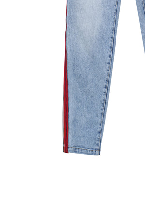 Load image into Gallery viewer, Side stripe jeans