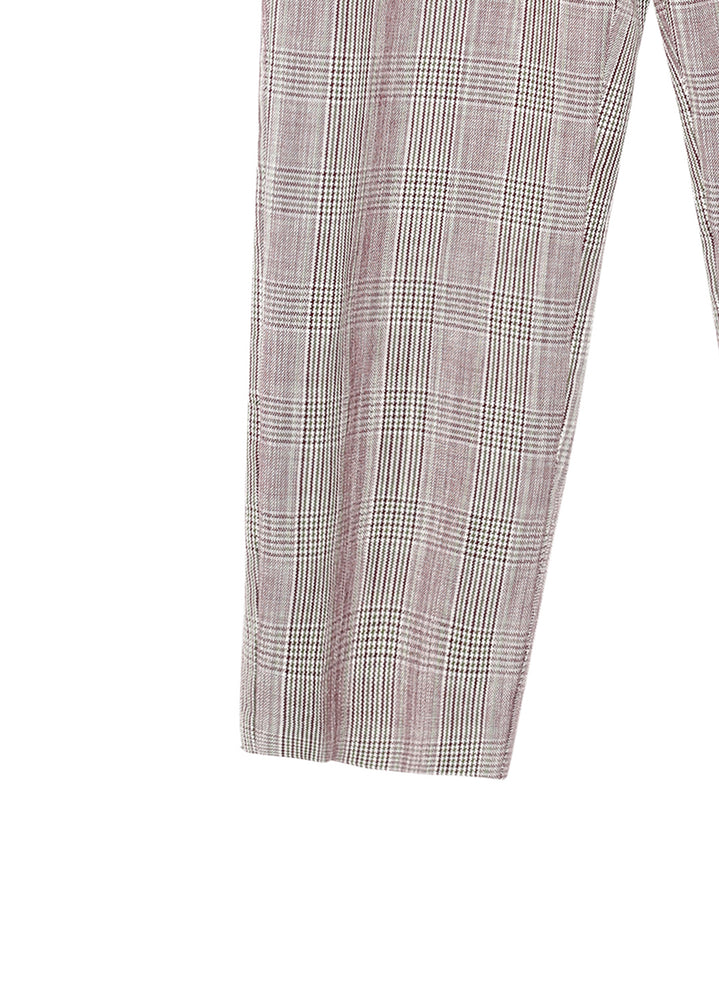 Load image into Gallery viewer, Gingham Suit plaid pants