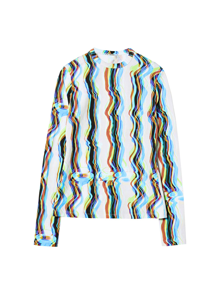 Mixed Color Stripe T-shirt