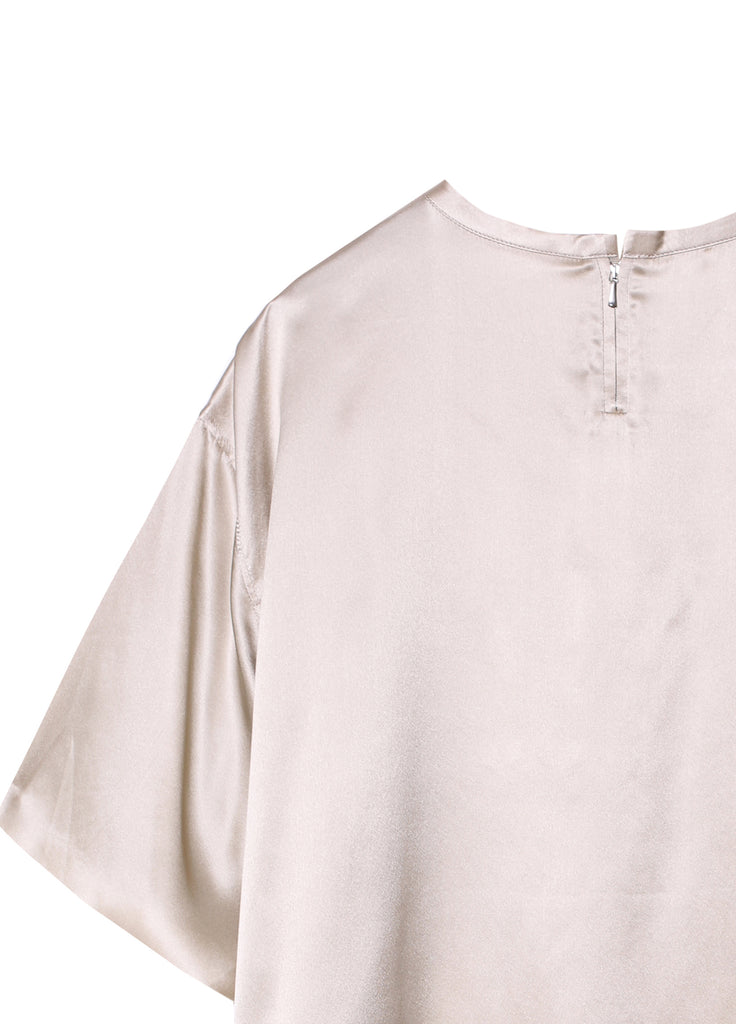 Silk Round Neck Shirt