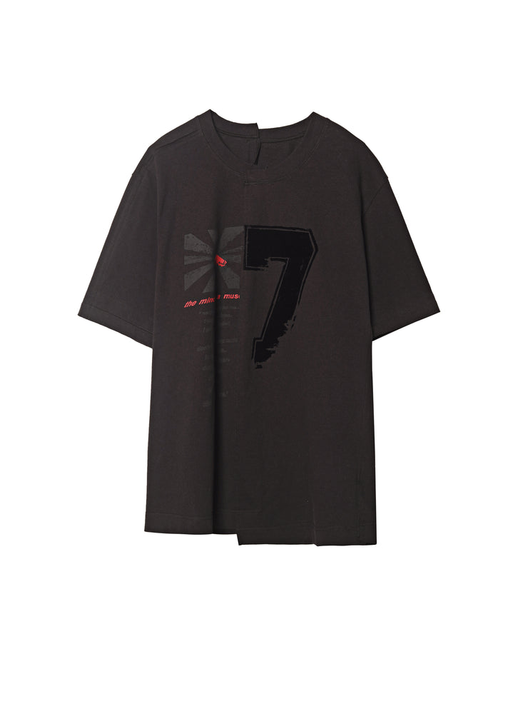 Load image into Gallery viewer, Stitched short sleeve printed T-shirt