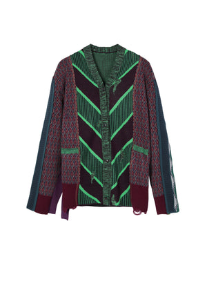 Load image into Gallery viewer, Geometry pattern cardigan