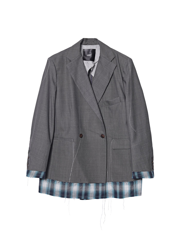 Loose fitted blazer with seams