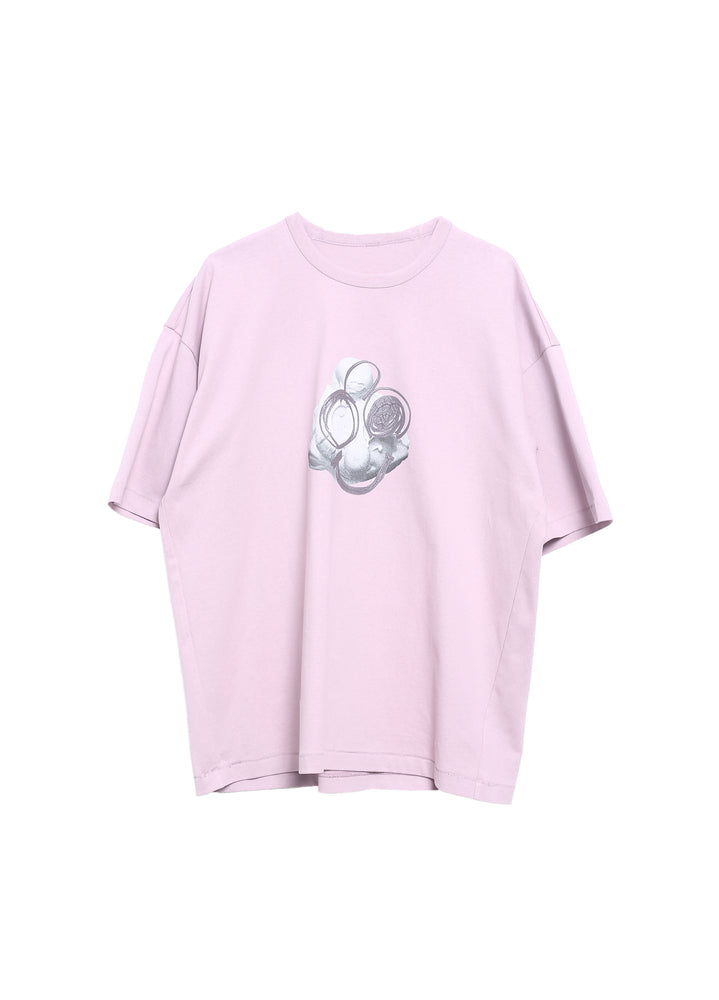 Load image into Gallery viewer, Short-sleeved T-shirt with dropped shoulders cartoon pattern