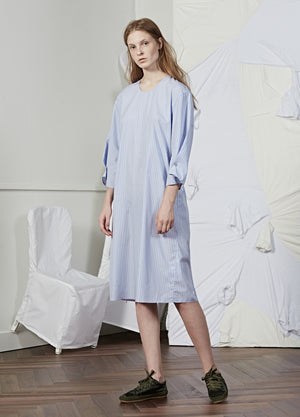 Load image into Gallery viewer, Short Buttoned Sleeve Shirt Dress