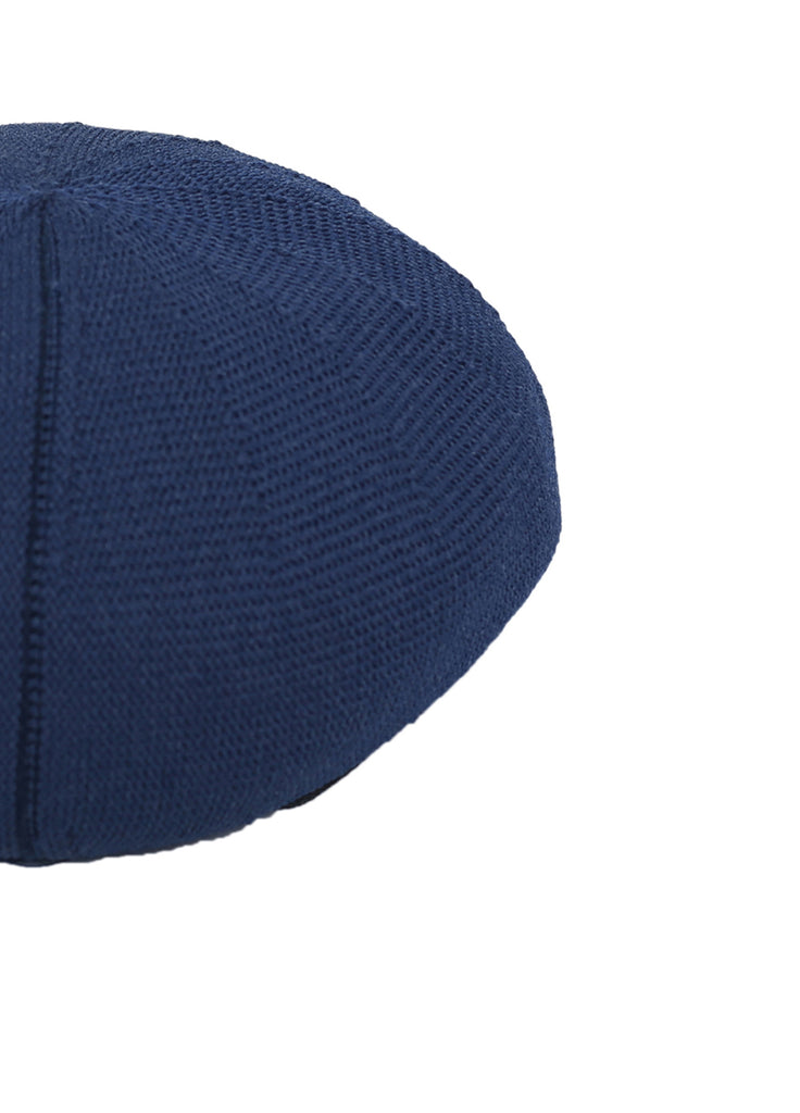 patterned-knit beret