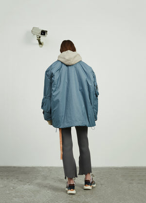 Load image into Gallery viewer, Lambswool Inside Pilot Jacket