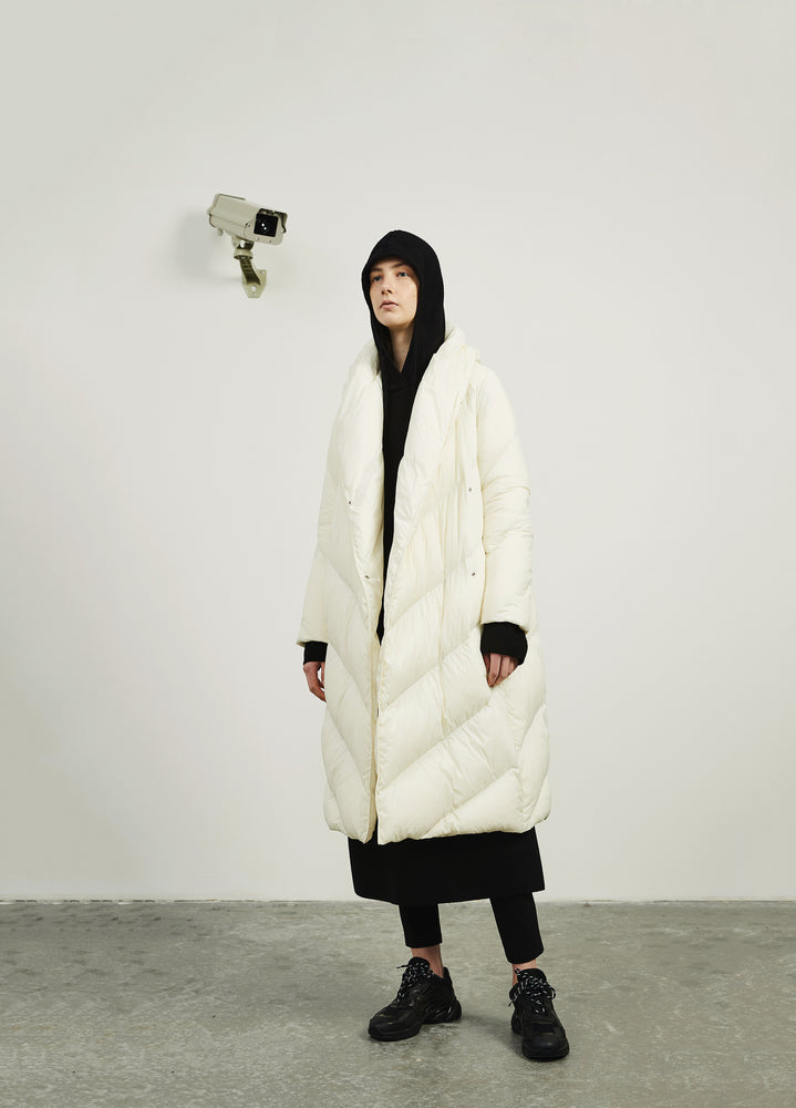The Silhouette Long Down Coat