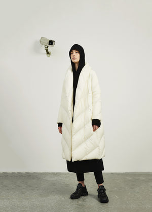 Load image into Gallery viewer, The Silhouette Long Down Coat