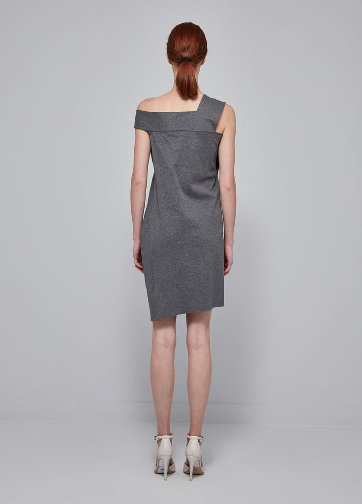 Asymmetrical Solid Color Dress