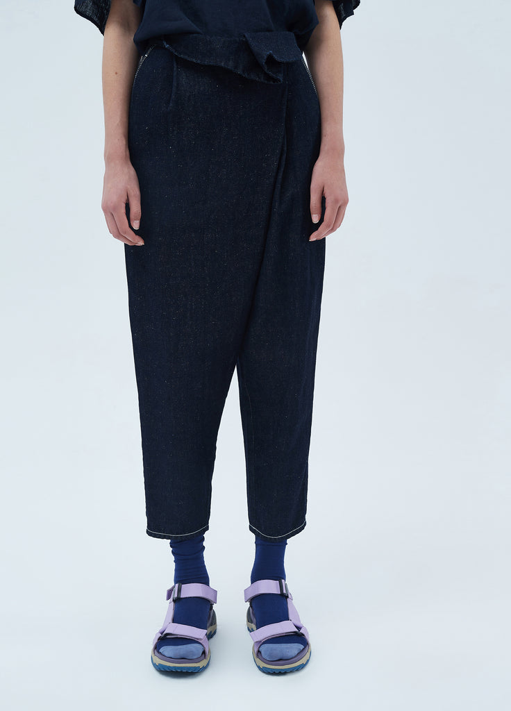 Denim Ninth Pants