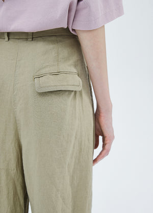 Load image into Gallery viewer, Linen pants with pleats on top part