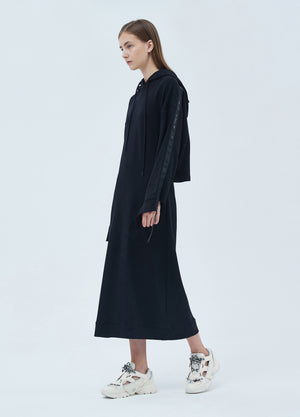 Load image into Gallery viewer, Hooded sweater dress