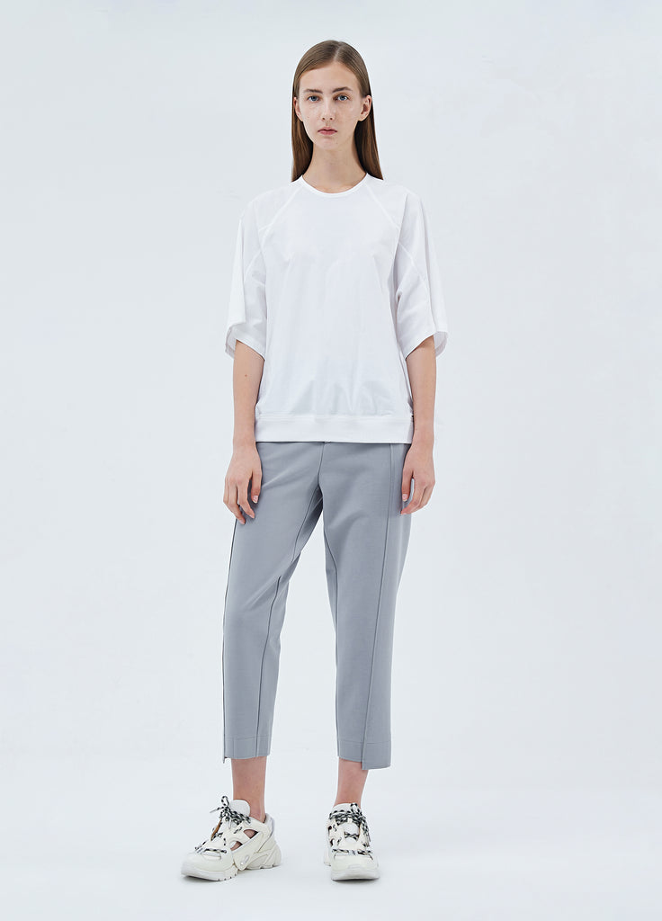 Minimalist styled solid color pants