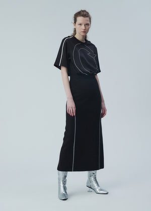 Load image into Gallery viewer, Long-waisted side detail skirt