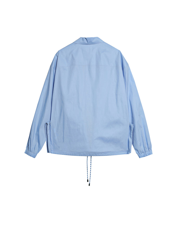 Solid color jacket with big pocket design