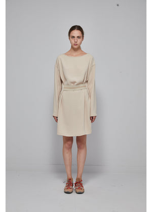 Load image into Gallery viewer, Round neck and long sleeves dress
