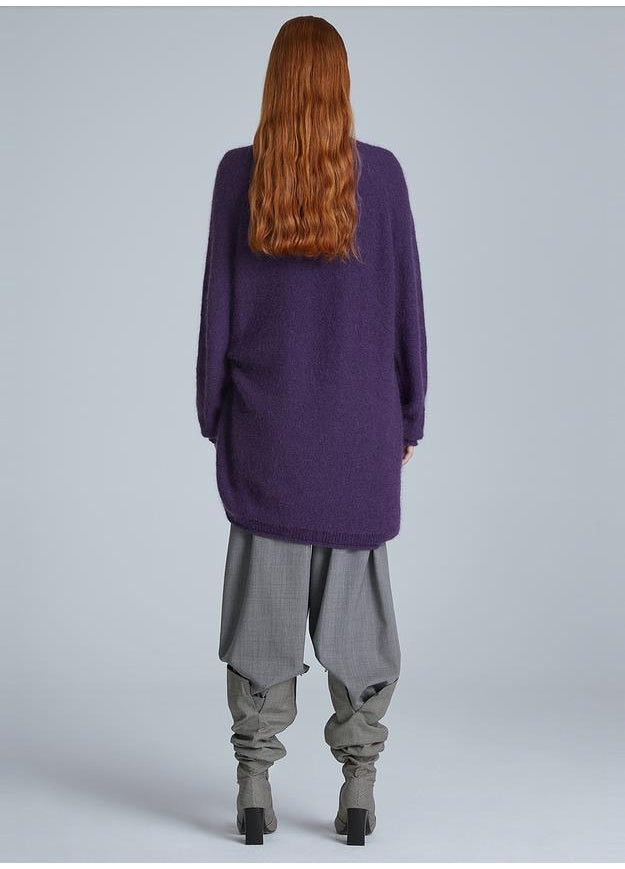Mohair Turtleneck Long Sweater