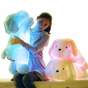 Colorful LED Glowing Puppy Plush Toy