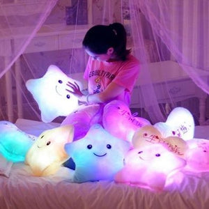 Colorful LED Glowing Star Plush Toy