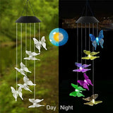 Color Changing Outdoor LED Solar Powered Wind Chime