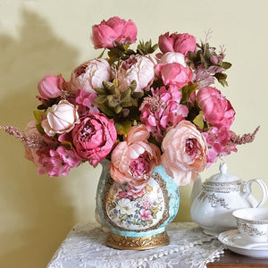 Farmhouse Faux Peonies in a Bunch