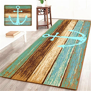Nautical Anchor Rustic Anti-Skid Mat
