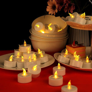 Realistic Flameless Faux Candle Tea Lights (Set of 50)
