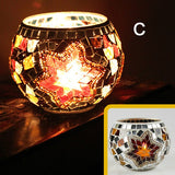 Handmade Mosaic Glass Candle Holder