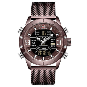 Classic Retro Watch with Stainless Steel Mesh
