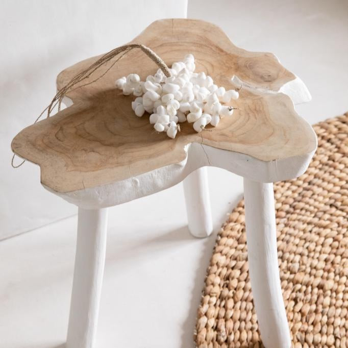 La table d'appoint organique - Blanc naturel