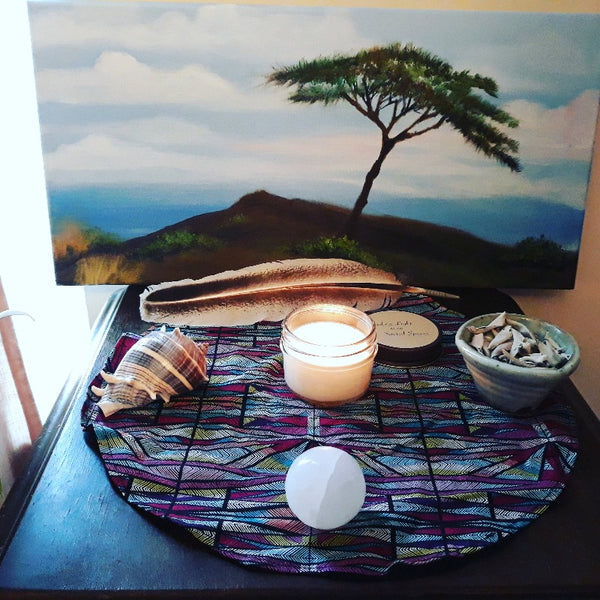 Reiki-Infused Candle Burning on Sacred Altar