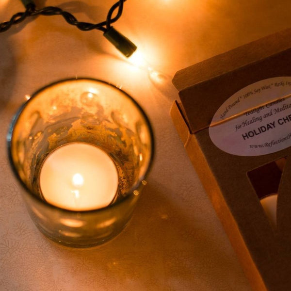Holiday Cheer Reiki-Infused Tealight Candles for Healing and Meditation