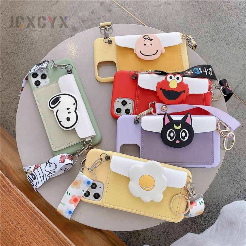 3D Cartoon Soft phone Case for Iphone & Samsung - MobTeck