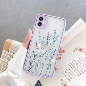 3D Relief Floral Transparent Soft Back Cover - For iphone Xs
