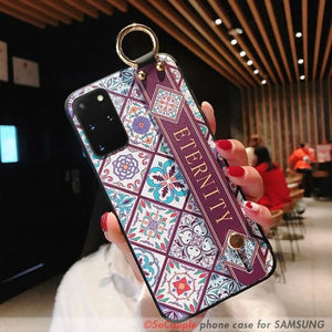 Graphic Phone Cover With Wrist Strap - For A50 /