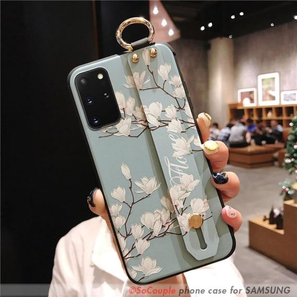 Graphic Phone Cover With Wrist Strap - For A7 2018 /