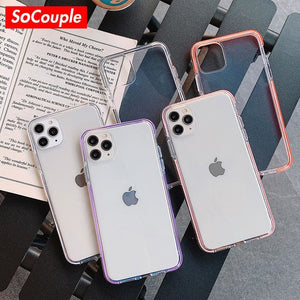 Iphone Transparent Silicone Cover - phone cover MobTeck