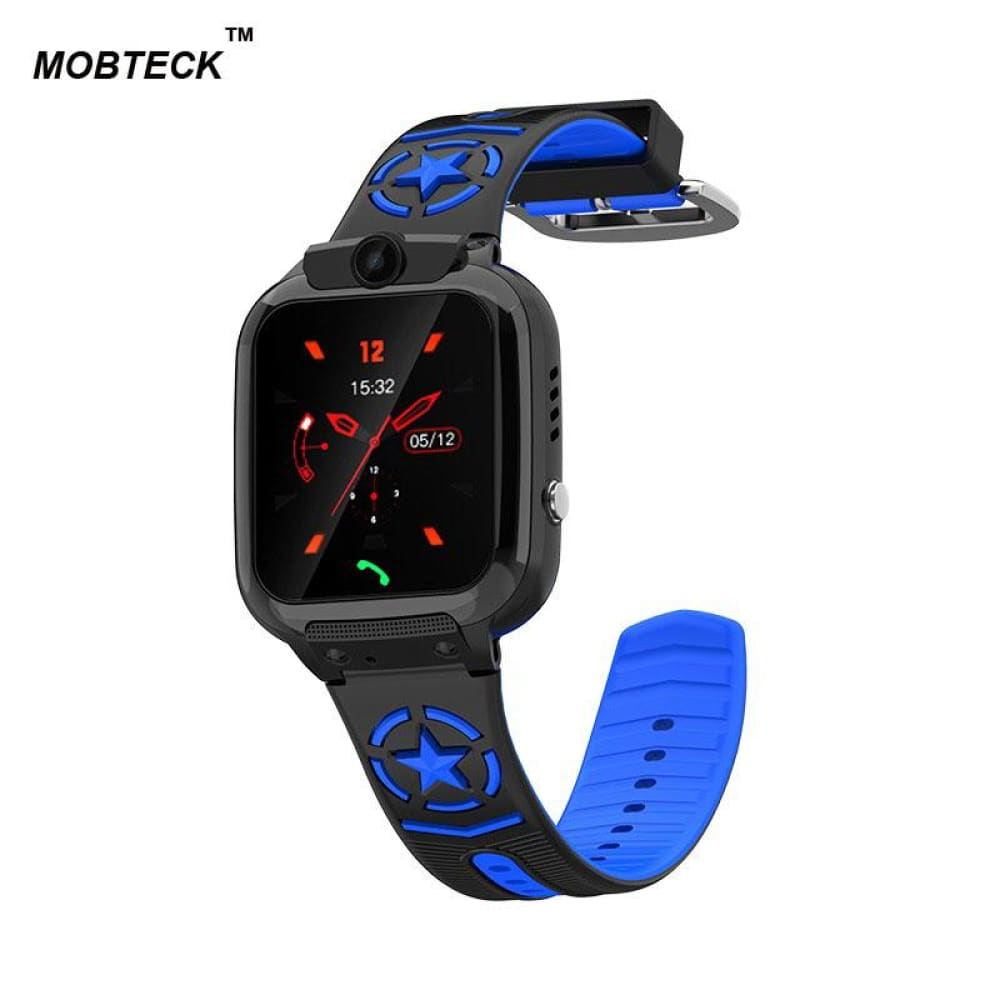 Mobteck-DS60 Kids Smart Watch video call SOS Tracking - Blue