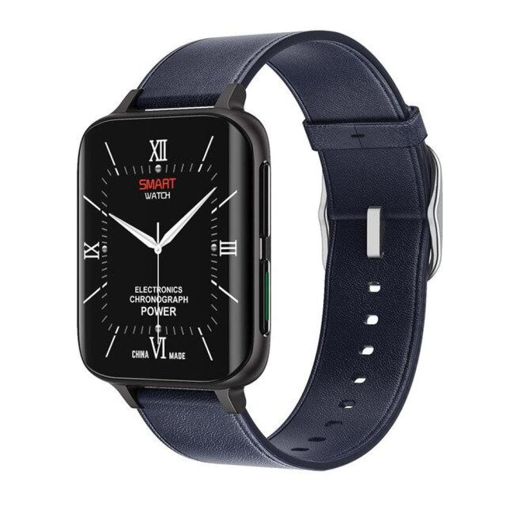 Mobteck-DT93 Curved Display Smartwatch with GPS - Dark blue