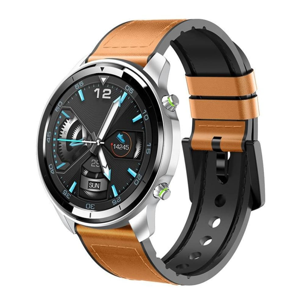 MOBTECK-H15 MEN'S SMARTWATCH - Brown - Smartwatch MobTeck