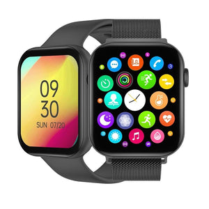 Mobteck OG-78 HD Display Smartwatch with GPS - silica black