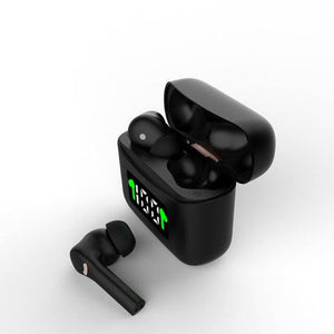 MT-New J5 TWS Wireless Earbuds - black - earbuds MobTeck