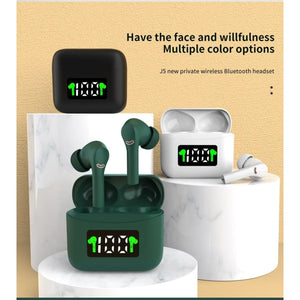 MT-New J5 TWS Wireless Earbuds - earbuds MobTeck accessories