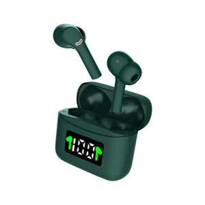 MT-New J5 TWS Wireless Earbuds - green - earbuds MobTeck